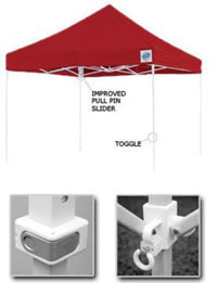 E-Z Up Shelters: Eclipse II Professional Tent Features